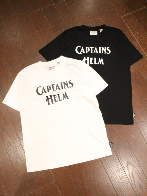 CAPTAINS HELM   「# BACTRIA-PROOF LOGO TEE」 プリントティーシャツ