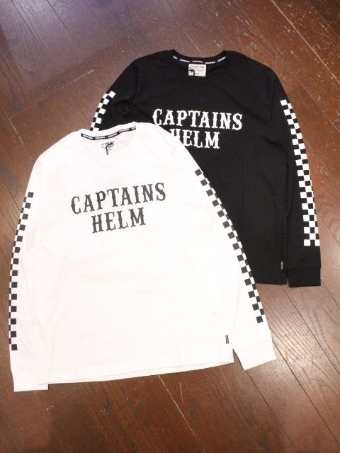 CAPTAINS HELM   「#CHECKER L/S TEE」  プリントロンティー