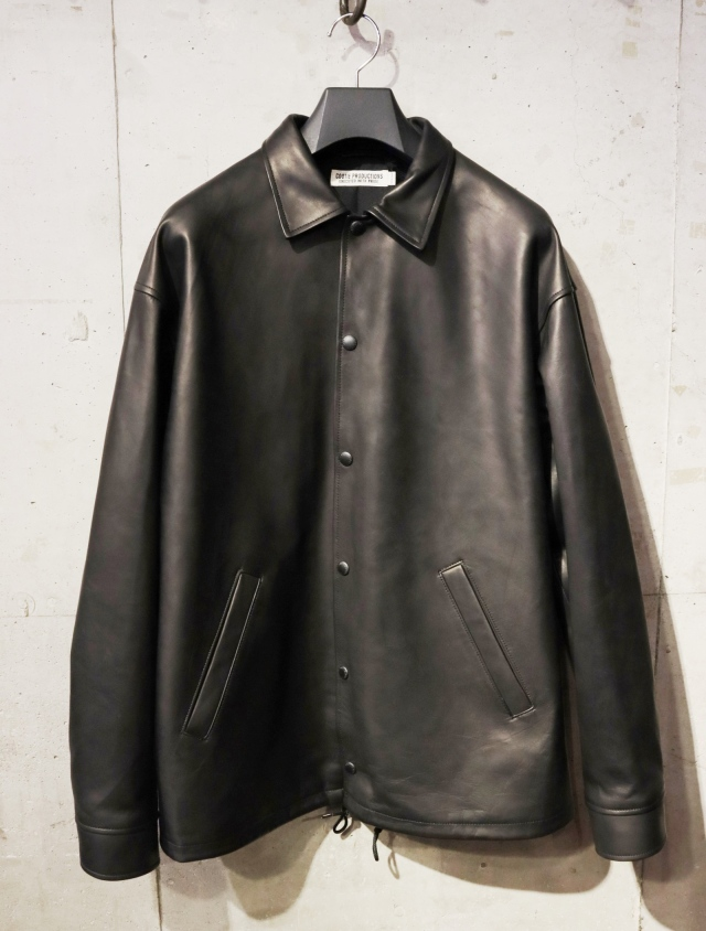 COOTIE  「Leather Coach Jacket」 レザーコーチジャケット