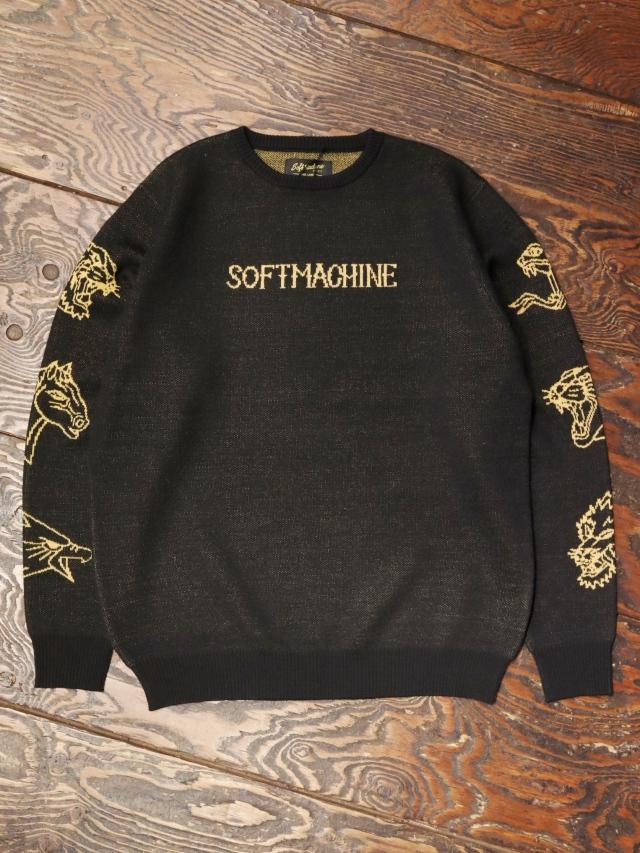 SOFTMACHINE  「FLASH SWEATER」 ジャガードニットセーター