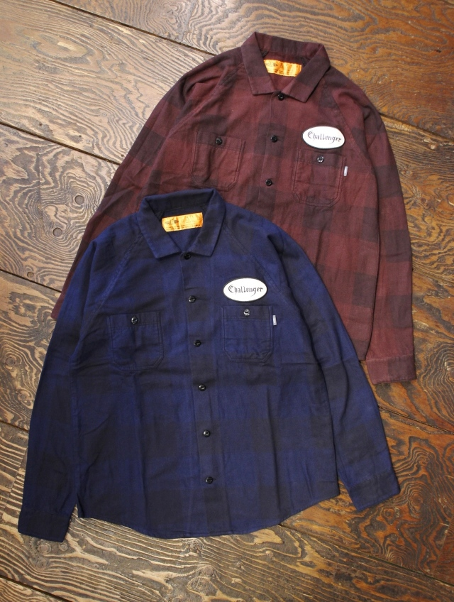 CHALLENGER   「L/S PATCH CHECK SHIRT」 ワッペンチェックシャツ