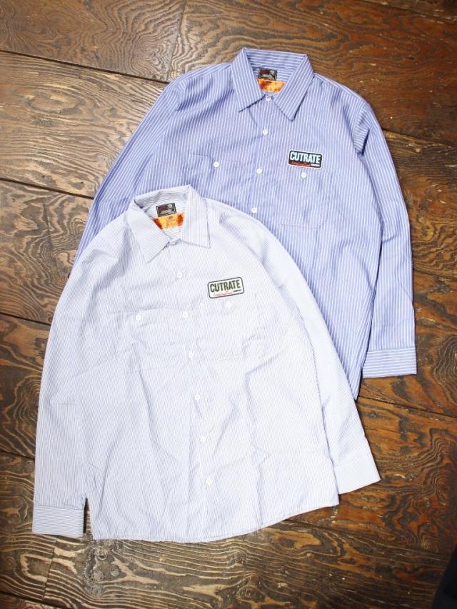 CUT RATE  「STRIPED WORK SHIRT」 ストライプワークシャツ