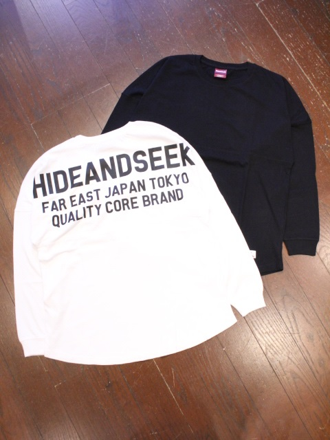 HIDEANDSEEK 「Drop Shoulder Long Sleeve Tee」 フットボールティーシャツ