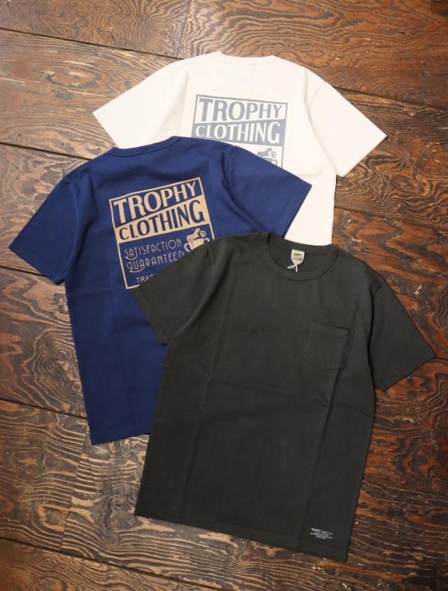 TROPHY CLOTHING  「 Box Logo OD Pocket Tee 」  プリントティーシャツ