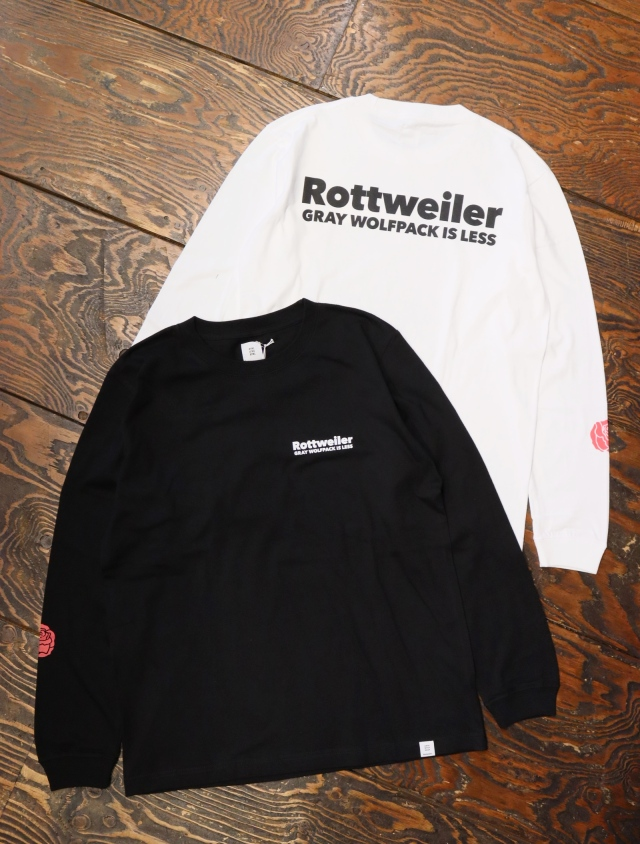ROTTWEILER  「 90 R.W LS TEE 」  プリントロンティー