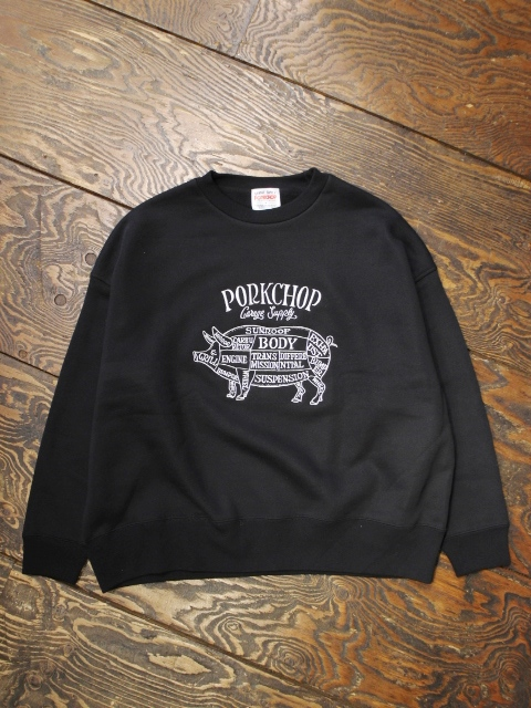 PORKCHOP GARAGE SUPPLY   「PORK FRONT STITCH SWEAT」  クルーネックスウェット