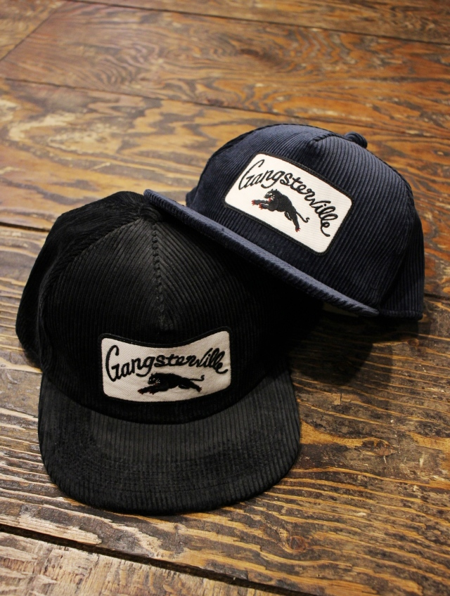 GANGSTERVILLE   「RISE ABOVE - CORDUROY CAP」   コーデュロイ ワッペンキャップ