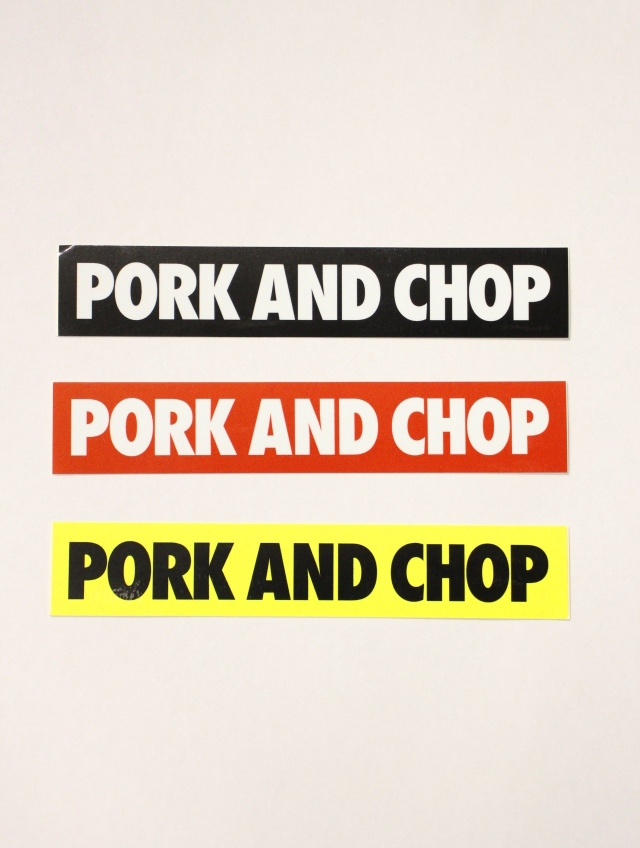 PORKCHOP GARAGE SUPPLY   「PORK AND CHOP STICKER SET」  ステッカーセット