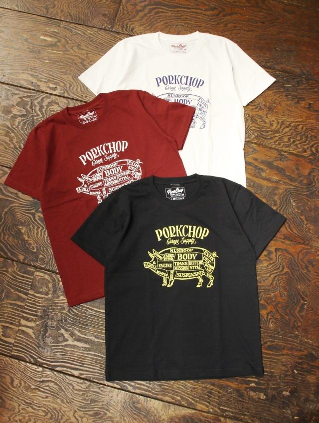 PORKCHOP GARAGE SUPPLY   「PORK FRONT S/S TEE 」  ティーシャツ