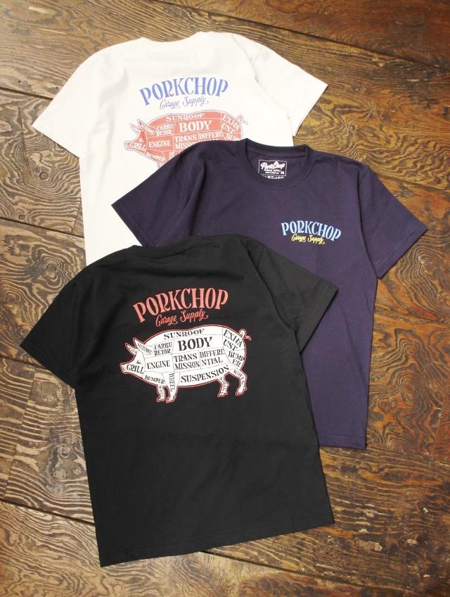 PORKCHOP GARAGE SUPPLY   「PORK BACK S/S TEE 」  ティーシャツ