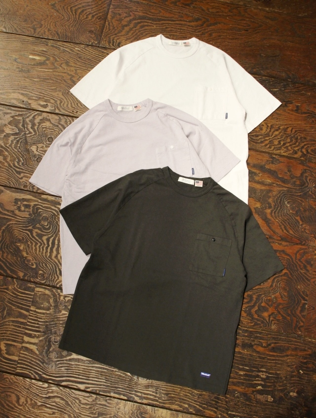 RADIALL    「FADE - CREW NECK POCKET T-SHIRT S/S」 ラグランスリーブポケットティーシャツ