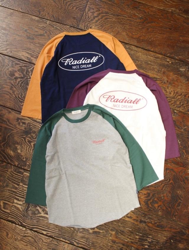 RADIALL  「OVAL-CREW NECK T-SHIRT 3Q/S」 ラグラン7分袖ティーシャツ