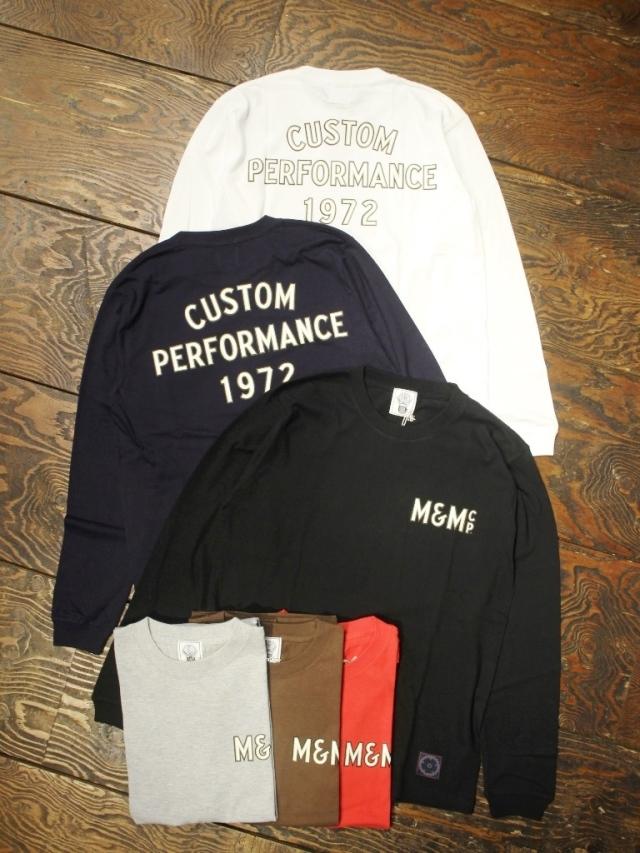 M&M CUSTOM PERFORMANCE   「PRINT L/S T-SHIRT (CUSTOM PERFORMANCE 1972)」 プリントロンティー