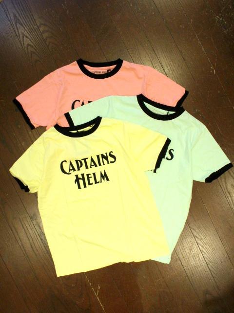 CAPTAINS HELM 「LOGO TRIM TEE」    プリントトリムティーシャツ