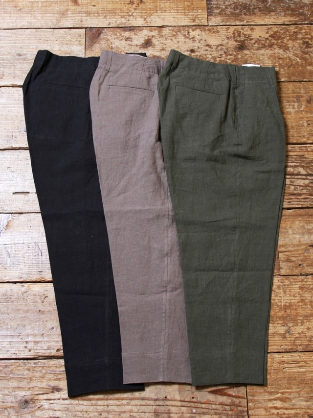 CALEE   「LINEN CROPPED SLACKS」  リネン クロップドスラックス