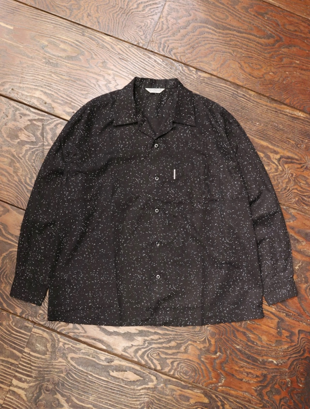 COOTIE  「Splatter Open-Neck L/S Shirt」 オープンカラーシャツ