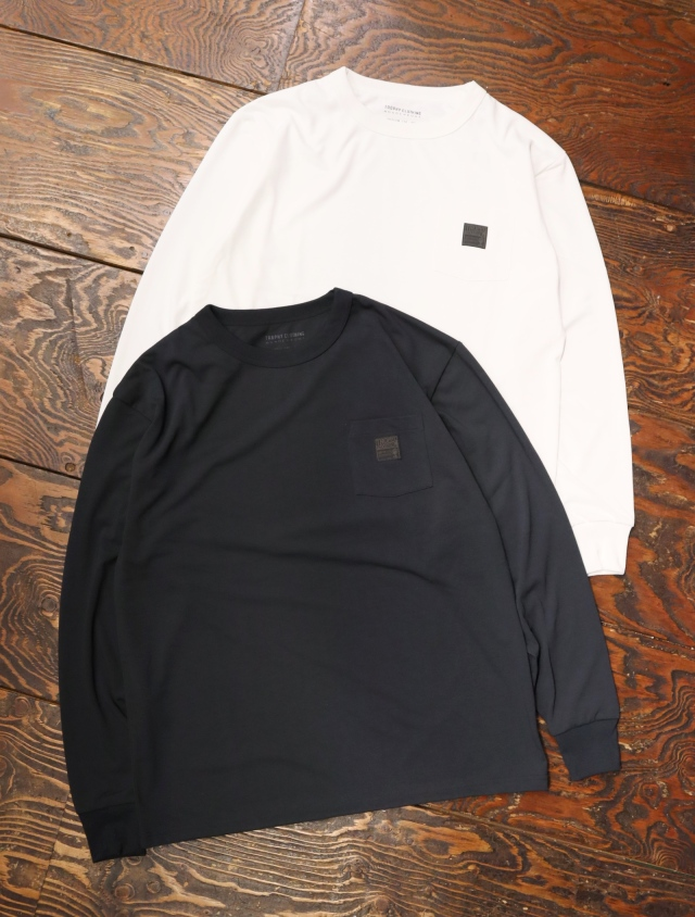 TROPHY CLOTHING  「MONOCHROME Level1 PC L/S Tee」  プリントロンティー