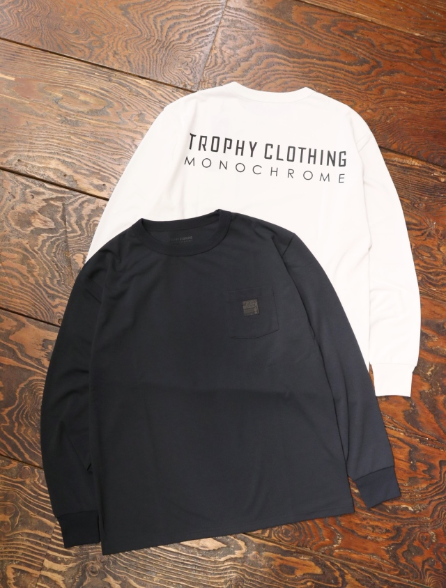 TROPHY CLOTHING  「MONOCHROME Level1 Logo PC L/S Tee」  プリントロンティー