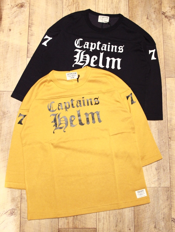CAPTAINS HELM   「#77 FOOTBALL TEE」  フットボールティーシャツ