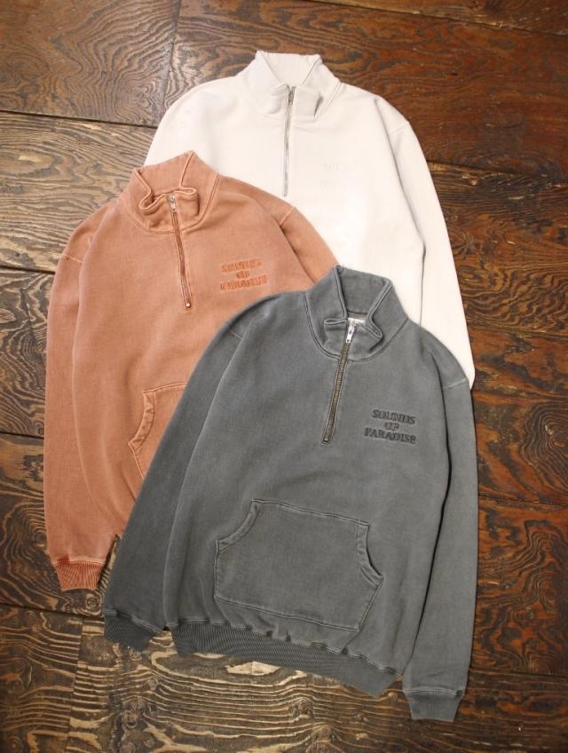 RADIALL  「NOVA - STAND COLLARED SWEATSHIRT L/S」  ハーフジップスウェットシャツ