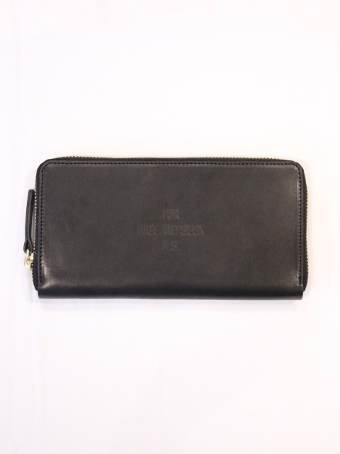 HIDEANDSEEK 「FOR H.S. Leather Wallet」 ラウンドジップ レザーロングウォレット