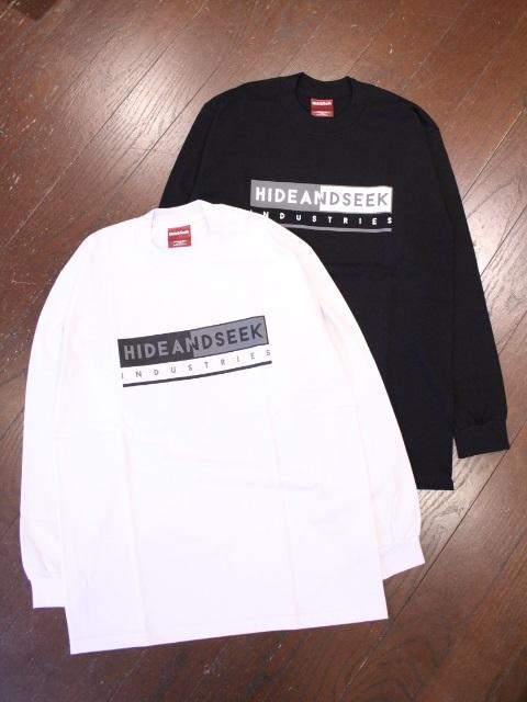 HIDEANDSEEK 「H&S INDUSTRIES L/S Tee」 ロングスリーブティーシャツ