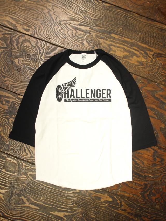 CHALLENGER  「WHEEL LOGO RAGLAN TEE」  ラグランティーシャツ