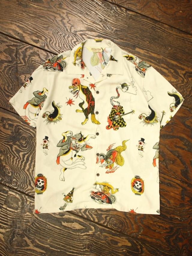SOFTMACHINE  「GHOST LAND SHIRTS S/S」オープンカラー レーヨンシャツ