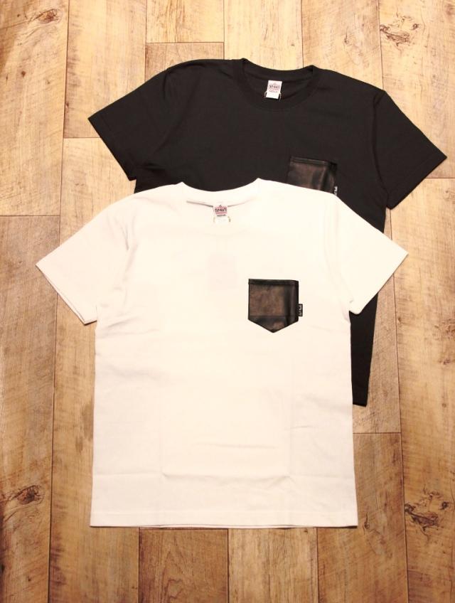 CUT RATE  「LEATHER POCKET T-SHIRT」 レザーポケットティーシャツ