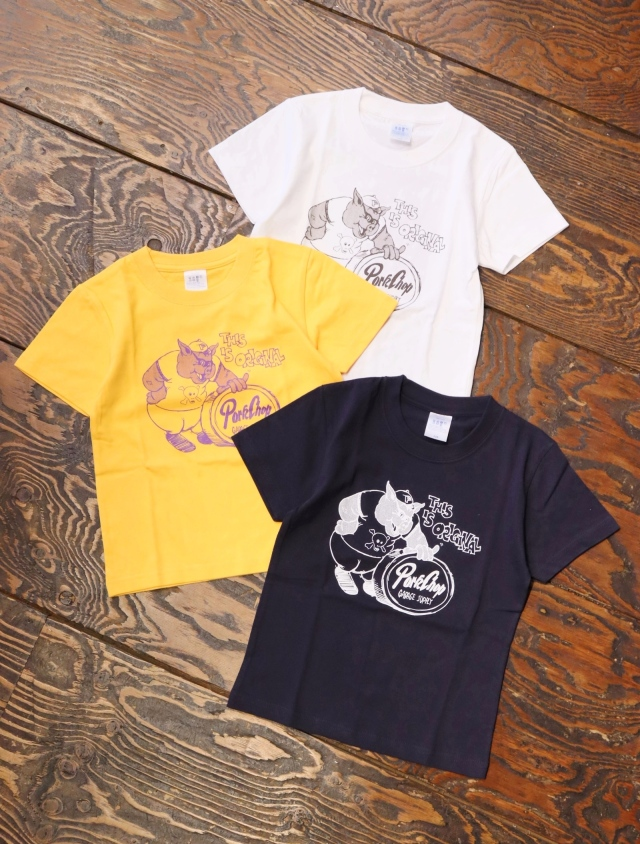 【6月12日 12時~ 発売開始!!】 PORKCHOP GARAGE SUPPLY   「 THIS IS ORIGINAL TEE for kids 」  キッズティーシャツ
