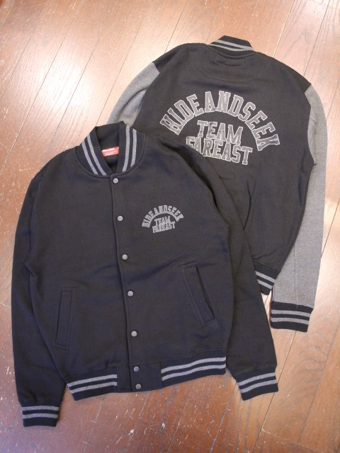 【NEW YEAR ITEM !!】HIDEANDSEEK 「Sweat Varsity Jacket」 スタジアムジャケット