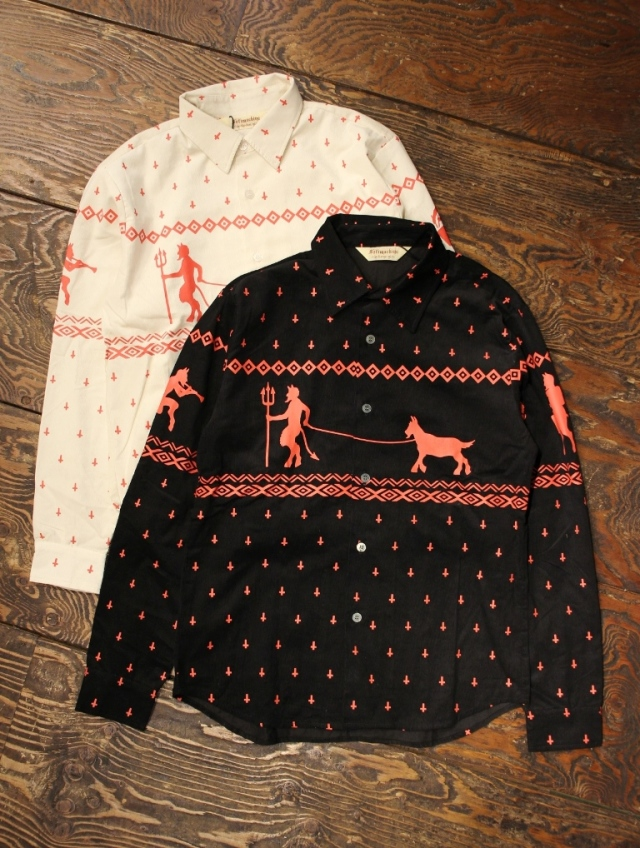 SOFTMACHINE  「NIGHTMARE SHIRTS L/S」 コーデュロイプリントシャツ