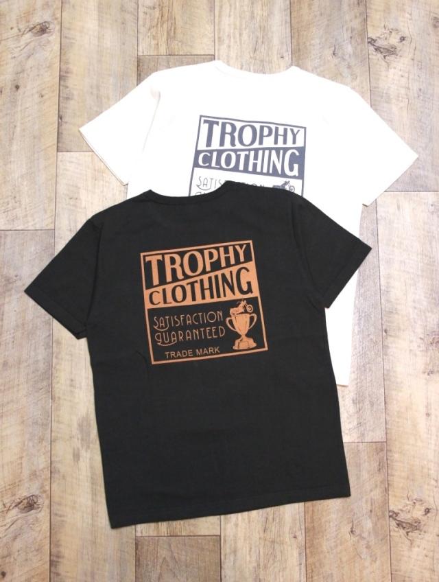 TROPHY CLOTHING  「Box Logo OD PK Tee」 ボリュームコットン ポケットティーシャツ