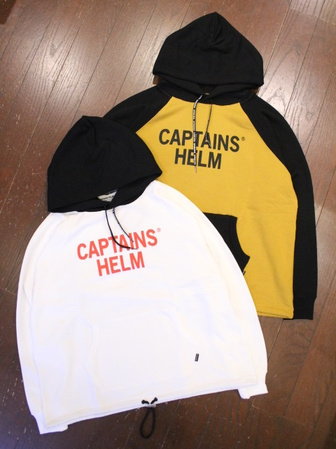 【NEW YEAR ITEM !!】 CAPTAINS HELM   「 #2TONE COLLEGE HOODIE  」  プルオーバーパーカー
