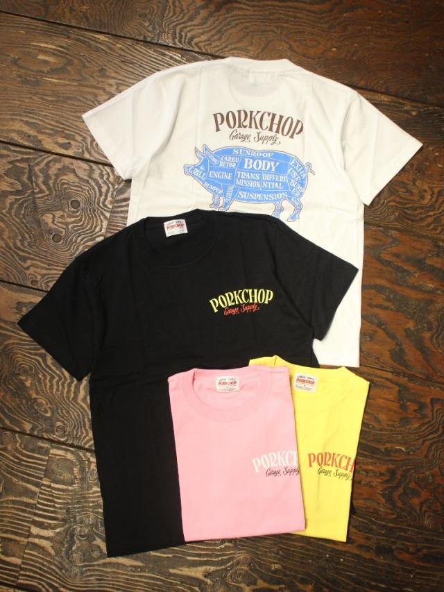 【 7月4日 12:00~ 発売開始! 】 PORKCHOP GARAGE SUPPLY   「 PORK BACK S/S TEE 」 プリントティーシャツ