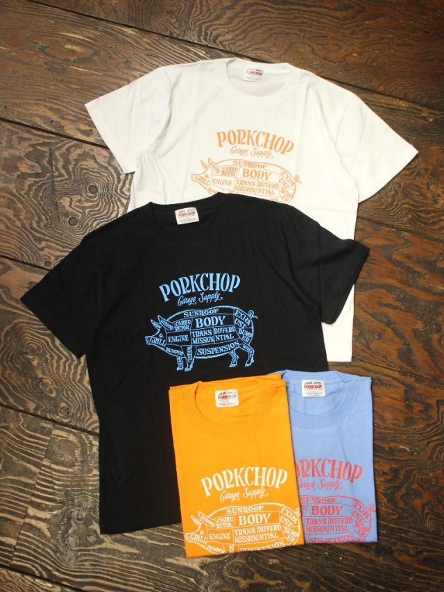 PORKCHOP GARAGE SUPPLY   「 PORK FRONT S/S TEE 」 プリントティーシャツ