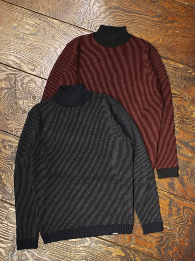 GANGSTERVILLE   「STRIPE - MOCKNECK SWEATER」  モックネックセーター