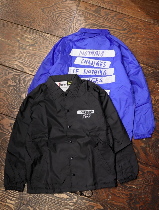 【4月3日 発売!!】 PORKCHOP GARAGE SUPPLY   「NOTHING CHANGES COACH JKT」  コーチジャケット