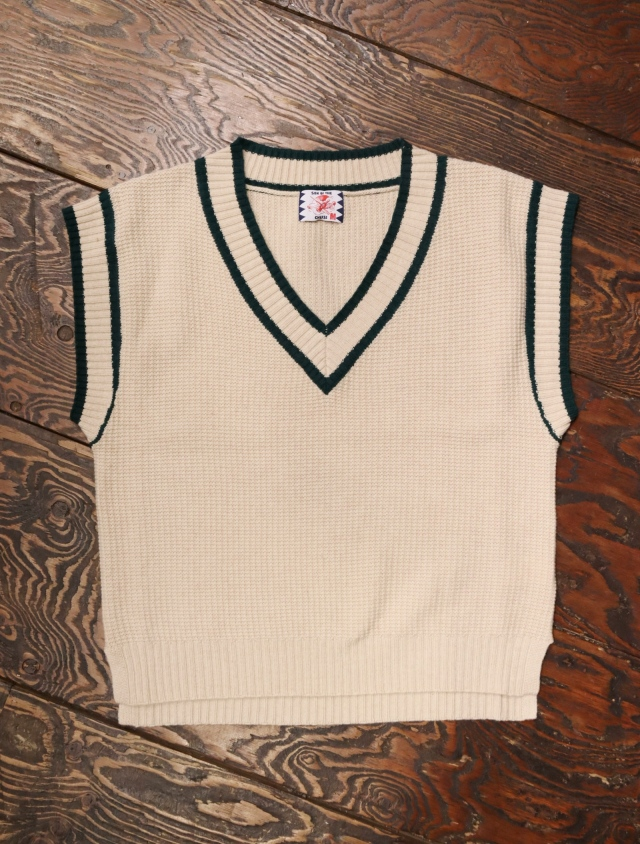 SON OF THE CHEESE  「Line Vest」 ニットベスト