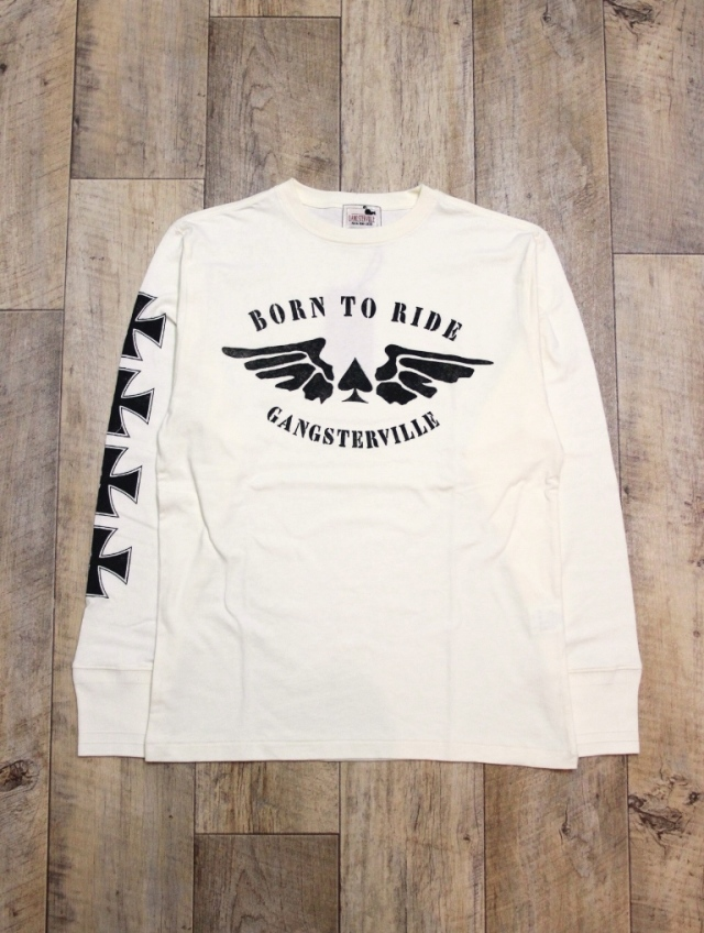GANGSTERVILLE   「THUG RIDE - L/S T-SHIRTS」  プリントロンティー