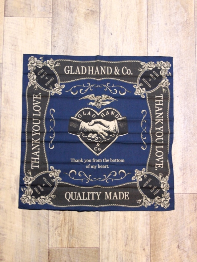 GLAD HAND   「HEARTLAND SCARF」  スカーフ