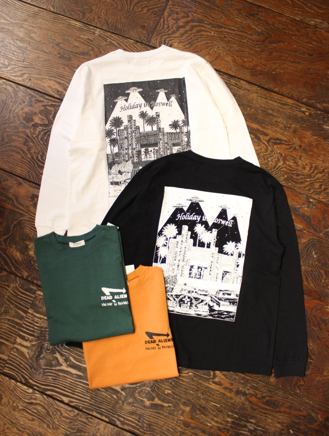 RADIALL  「HOLIDAY - CREW NECK T-SHIRT L/S」 プリントロンティー