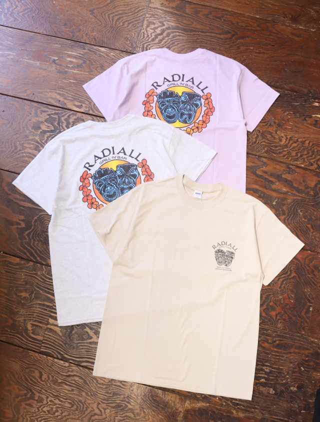 RADIALL  「TWO FACE - CREW NECK T-SHIRT S/S」  プリントティーシャツ