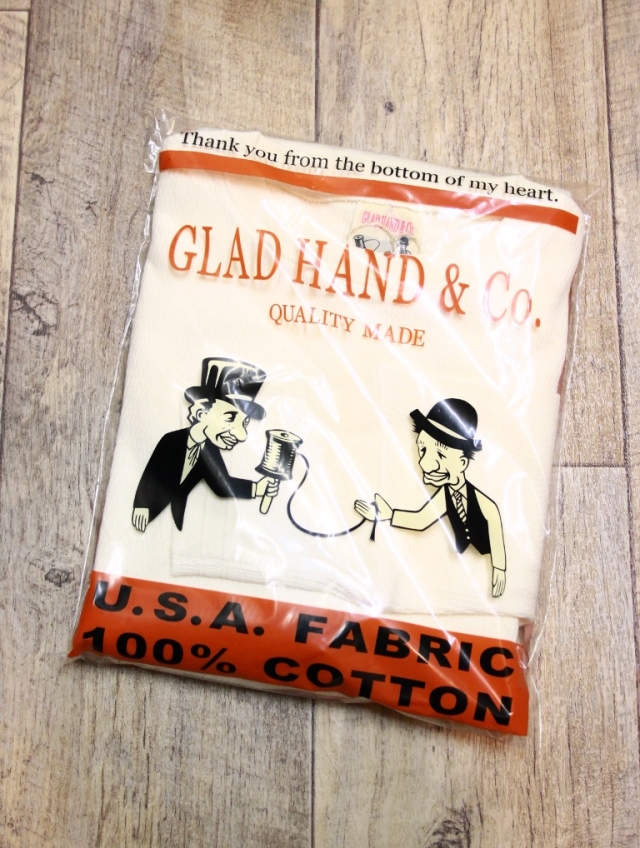 GLAD HAND  「WAFFLE L/S T-SHIRTS」   クルーネックワッフルロンティー