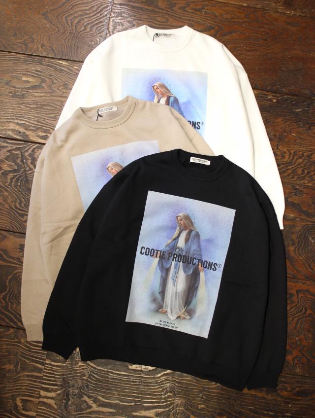 COOTIE  「Print Crewneck Sweatshirt (MARY)」 クルーネックスウェット