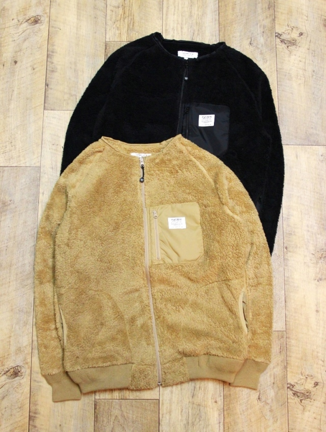 CAPTAINS HELM   「#N/C BOA FLEECE JACKET」   ノーカラーフリースジャケット