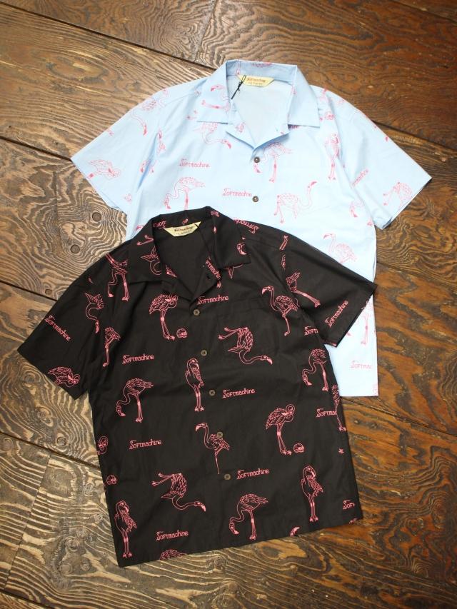 SOFTMACHINE  「FLAMMA SHIRTS S/S」オープンカラーシャツ