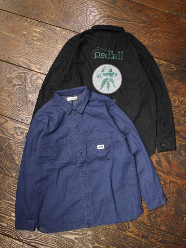 RADIALL  「FREE - REGULAR COLLARED SHIRT L/S」  レギュラーカラーワークシャツ