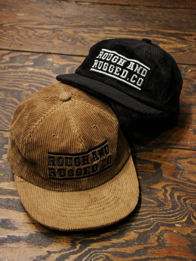ROUGH AND RUGGED   「DESIGN CAP / BAR LOGO」  コーデュロイキャップ