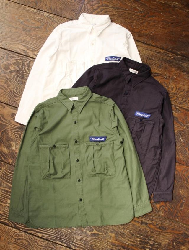 RADIALL  「TRENCH - REGULAR COLLARED SHIRT L/S」  レギュラーカラーシャツ